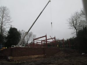 The Steel Frame Arrives