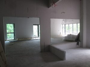 From entrance to activity room