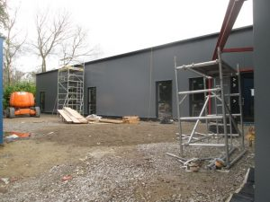 External walls in place
